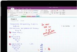 Schularbeit und Korrektur in OneNote (Bild: Microsoft)