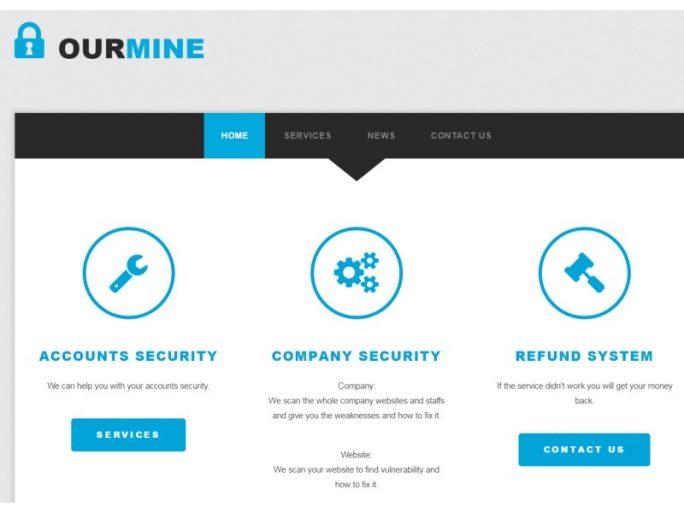 Die Hackergruppe Ourmine glaubt, mit Hacks für ihre Dienstleistungen werben zu können (Screenshot: ZDNet.de).
