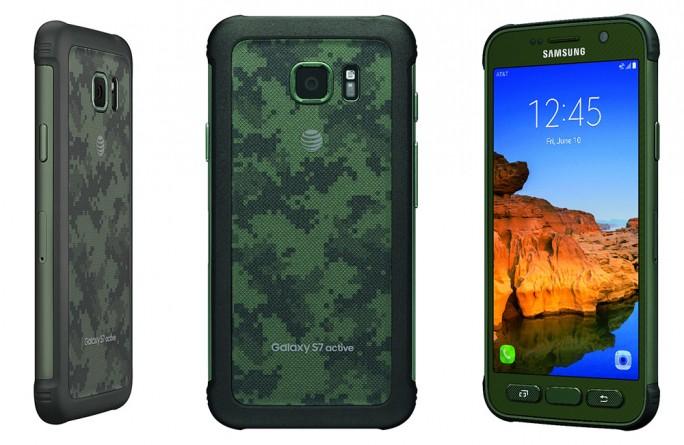 AT&T bietet das Galaxy S7 Active auch in Camouflage-Optik an (Bild: AT&T).