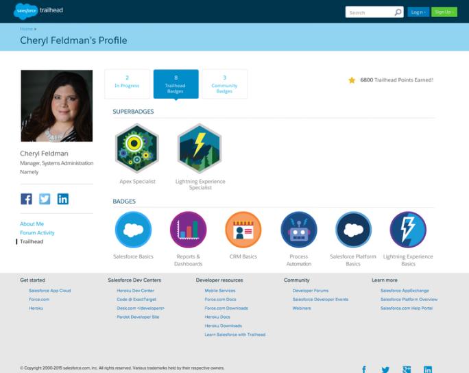 """Salesforce zeichnet Entwickler mit """"Superbadges"""" aus (Bild: Salesforce)."""