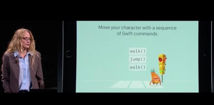 Präsentation von Swift Playgrounds (Screenshot: ZDNet)