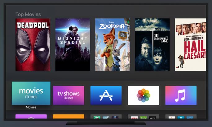 Mit dem tvOS-Update lässt sich unter Apple TV auch eine dunkle Oberfläche einstellen (Bild: Apple).