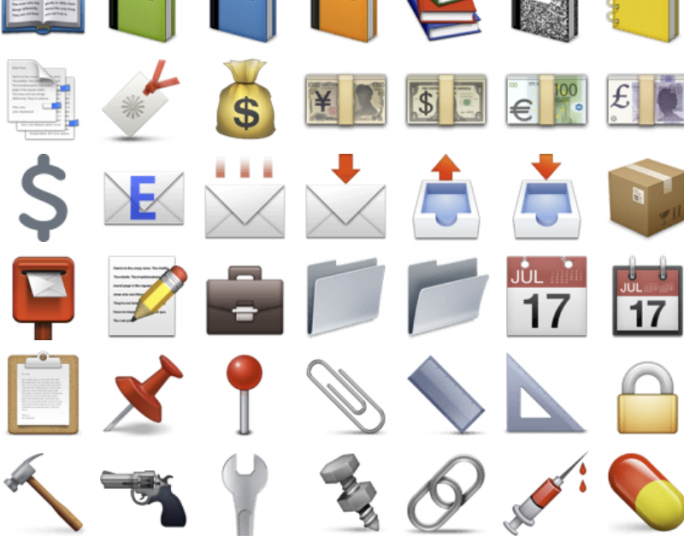 Kein Gewehr, aber Pistole im Unicode-Zeichensatz (Screenshot: ZDNet.de)