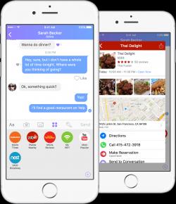 Restaurantbuchung mit der geplanten App von Wand Labs (Bild: Wand Labs)