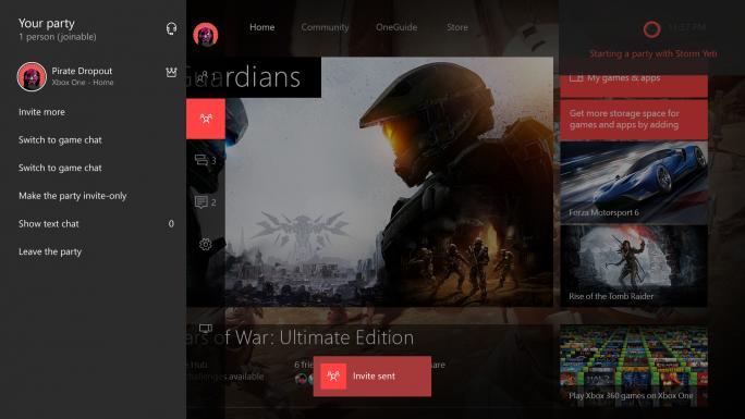 Mit Cortana gestartete Xbox-Party (Bild: Microsoft)