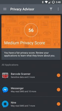Datenschutz ist zugleich Geräteschutz: Oft nutzen Angreifer persönliche Informationen, um Nutzer in die Falle zu locken. Apps wie Bitdefender Privacy Advisor sorgen für das richtige Bewusstsein im Umgang mit persönlichen Daten (Screenshot: Bitdefender).