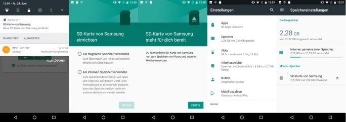 Samsung EVO Plus 256GB: Inbetriebnahme unter Android (Bild: ZDNet.de)