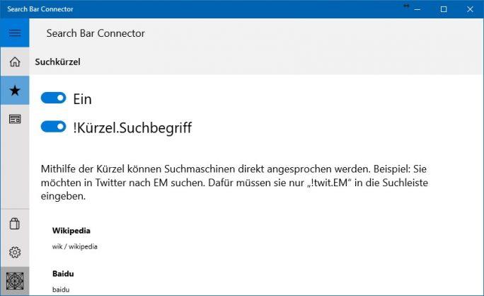 Search Bar Connector: Suche mit bestimmter Suchmaschine (Screeenshot: ZDNet.de)