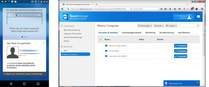 TeamViewer-Konto: Management Console (Bild: ZDNet.de)