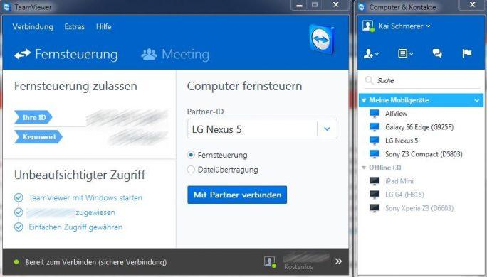TeamViewer QuickSupport: Mehr Möglichkeiten mit TeamViewer-Konto (Bild: ZDNet.de)