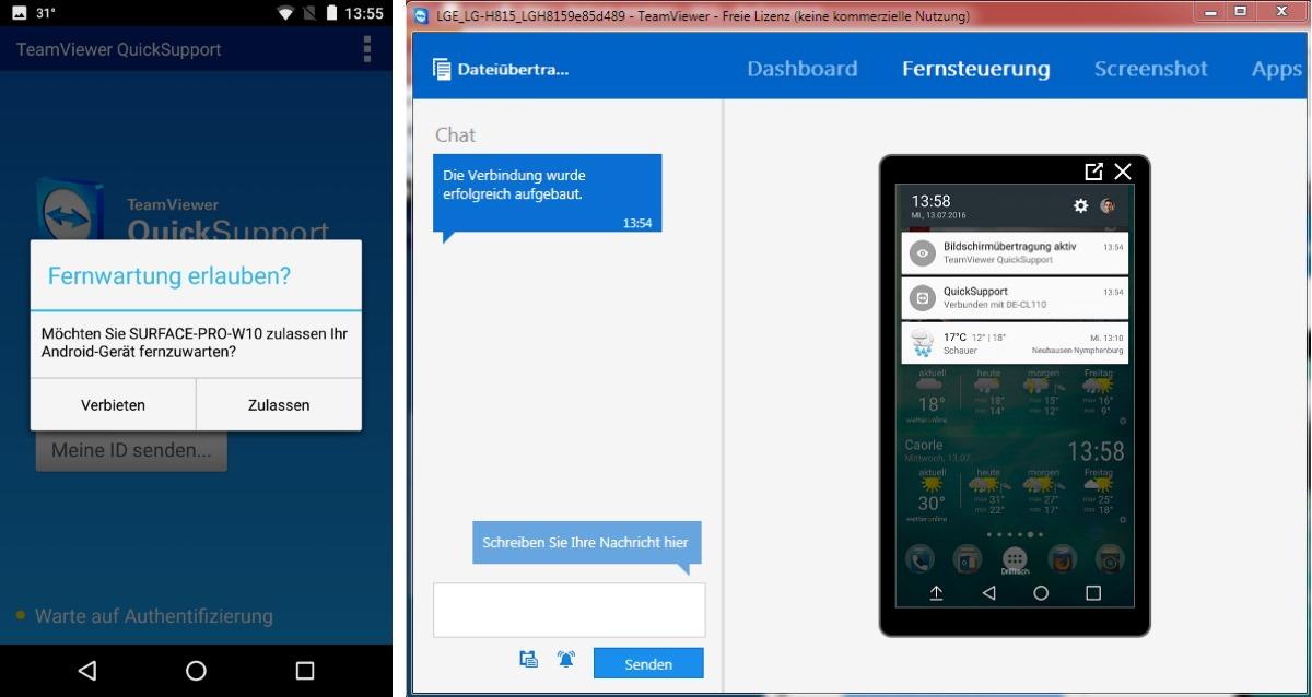 TeamViewer QuickSupport: Fernsteuerung von Android-Smartphones