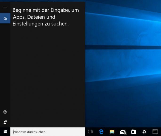 Windows 10 1607 Anniversary Update: Cortana und Websuche ausgeschaltet (Bild: ZDNet.de)