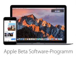 Beta-Programm für iOS 10 und macOS 10.12 Sierra (Bild: Apple)