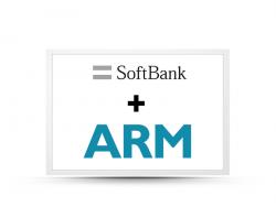 Logos von ARM und Softbank (Bild: ARM)