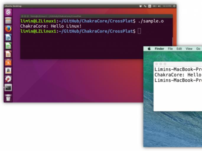 ChakraCore läuft unter Linux und OS X (Bild: Microsoft).