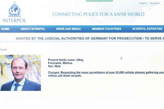 Sachsens Innenminister Markus Ulbig auf der Fahndungsliste von Interpol (Screenshot: Mopo24)