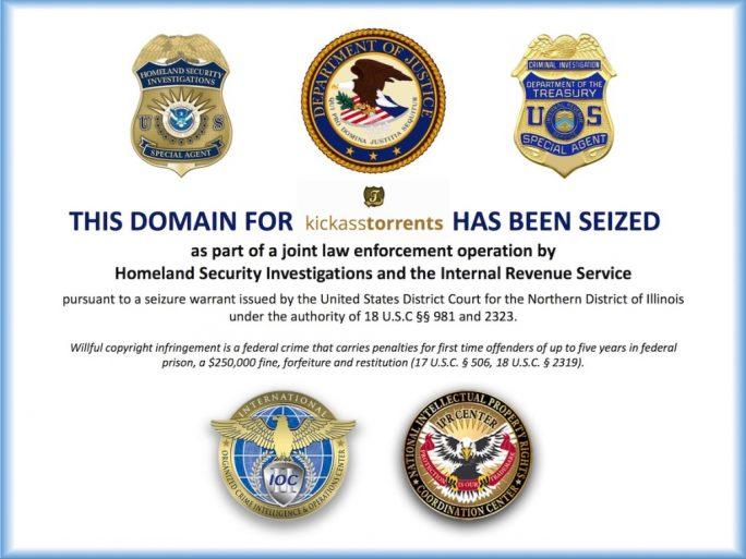 US-Behörden haben mehrere Domains von Kickass Torrents beschlagnahmt (Screenshot: ZDNet.de).