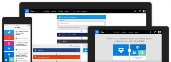 Microsoft Flow liegt als Webanwendung sowie als App für iOS und Android vor (Bild: Microsoft).