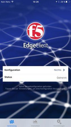 Mit dem F5 Edge Client verbinden Anwender ihre Endgeräte mit einer F5-VPN-Lösung (Screenshot: Thomas Joos).