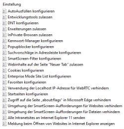 Auch Microsoft Edge lässt sich über Gruppenrichtlinien steuern (Screenshot: Thomas Joos).