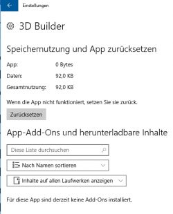 In den erweiterten Optionen von Apps steht die Option zum Zurücksetzen zur Verfügung (Screenshot: Thomas Joos).