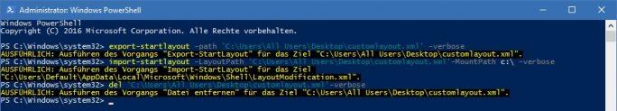 Windows 10:Einheitliches Startmenü für alle Nutzer mit Powershell einrichten (Bild: ZDNet.de)