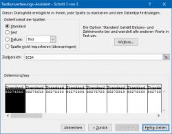 Excel: Assistent für das Aufteilen der Daten, Schritt 3 (Bild: ZDNet.de)