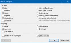 Excel: strg + alt + v (Bild: ZDNet.de)