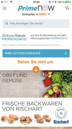 Über die App lässt sich die Verfügbarkeit für die Lieferadresse prüfen. Die Produkte können dann direkt ausgewählt werden (Bild: Amazon).