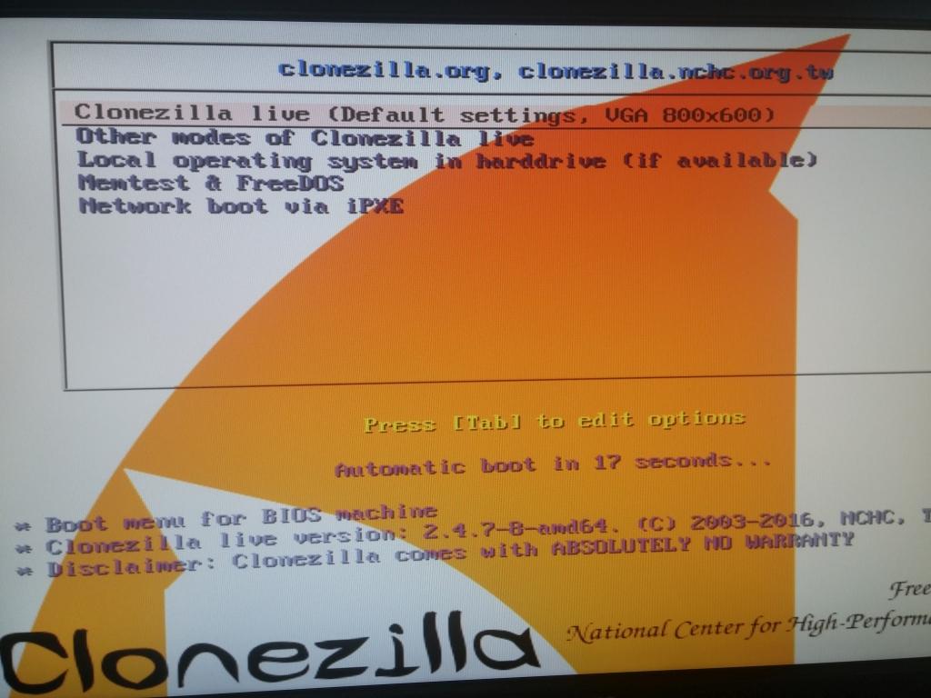 Windows 10: Installation mit CloneZilla und GParted klonen