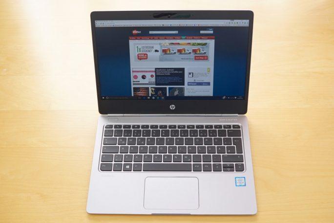 HP EliteBook Folio G1 aufgeklappt (Bild: ZDNet.de)