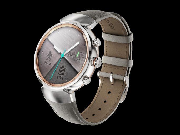 Zenwatch 3 in Silber/Silikon Beiger (Bild: Asus)