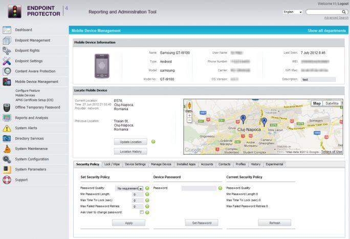 Neben dem Schutz von Unternehmensdaten bietet Endpoint Protector auch Mobile Device Management-Funktionen (Screenshot: Thomas Joos).