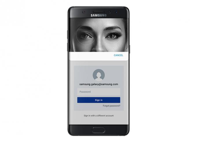 Iris-Scanner Galaxy Note 7 (Bild: Samsung)