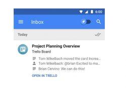 Zusammenfassung von Trello-Mails in Inbox (Bild: Google)