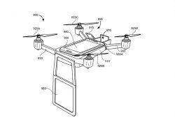 Konzept eines Konferenz-Quadcopters (Bild: Google, via USPTO)