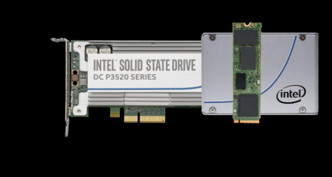 Neue 3D-NAND-SSDs in verschiedenen Formfaktoren (Bild: Intel)