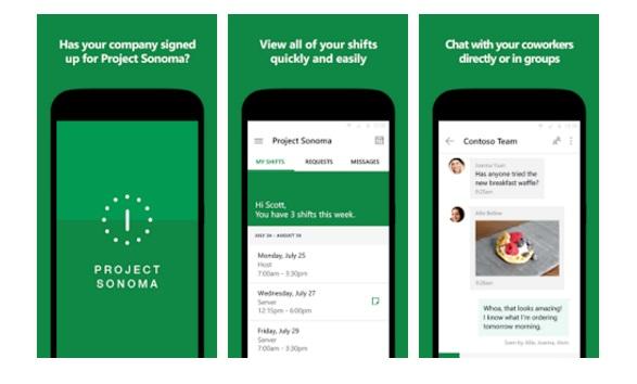 Project Sonoma für Android (Bild: Microsoft)