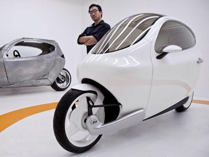 Selbstbalancierendes elektrisches Zweirad C-1 (Bild: Lit Motors)