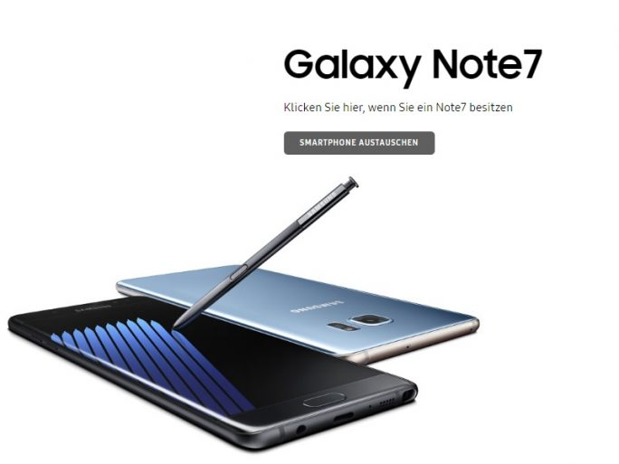 Samsung startet Austauschprogramm für Galaxy Note 7 (Bild: ZDNet.de)