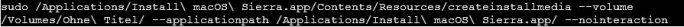 Mit dem Kommando createinstallmedia wird ein bootbarerer USB-Stick erzeugt (Screenshot: ZDNet.de)