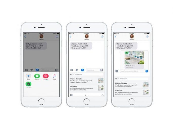 Evernote-Dokumente in Apple Nachrichten (Bild: Evernote)
