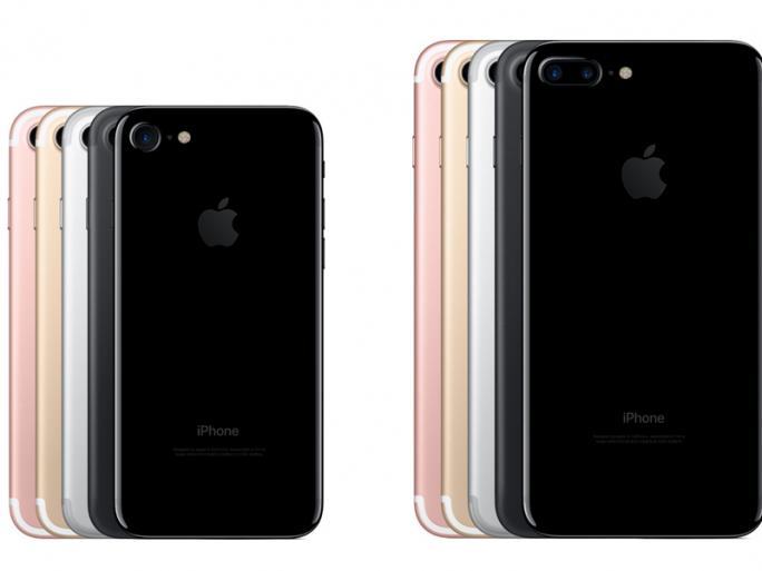 iPhone 7 und iPhone 7 Plus bieten Schwarz sowie das glänzende Diamantschwarz als neue Gehäusefarben (Bild: Apple).