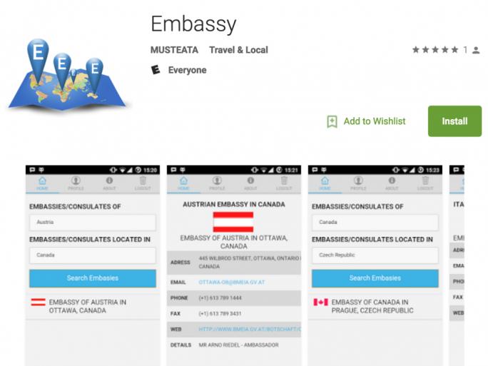 """Google hat nach einem Hinweis von Lookout die Spyware-App """"Embassy"""" aus seinem Play Store entfernt (Screenshot: Lookout)."""
