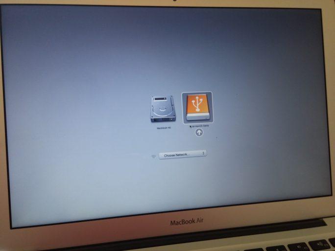 Alt-Taste drücken, um macOS Sierra von USB-Stick zu starten (Bild: ZDNet.de)