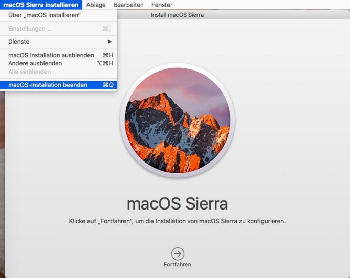 macOS Sierra 10.12 (Screenshot: ZDNet.de)