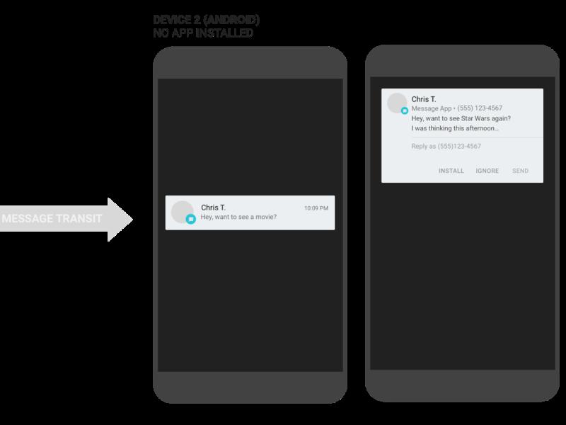App Preview Messaging: Android kann Nachrichten nicht installierter Messenger anzeigen