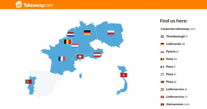 Takeaway.com mit regionalen Domains (Screenshot: ZDNet.de)