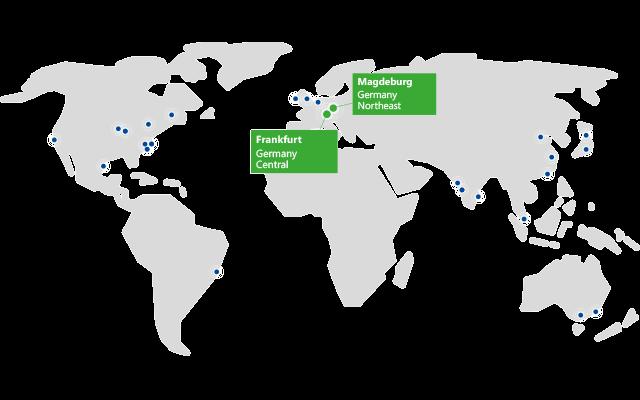 Deutschland als neue Microsoft-Rechenzentrumsregion (Bild: Microsoft)