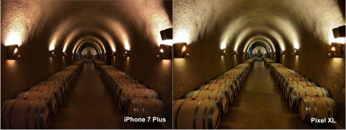Kameravergleich: Pixel XL, iPhone 7 Plus bei schwachen Lichtverhältnissen (Bild: Vanessa Hand Orellana/CNET)